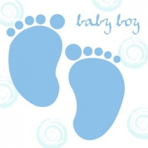 Baby Boy Feet Card