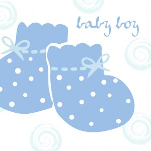 baby boy bootie card