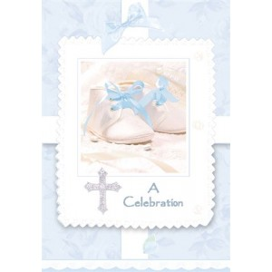 Pack of 8 - Tiny Blessings Blue Invitations