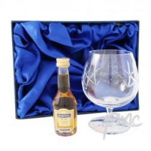 Crystal Glass & Brandy Gift Set