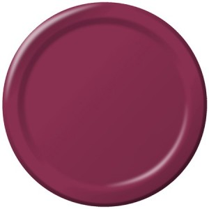 Red Burgundy Plates