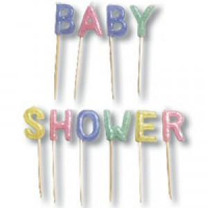 Baby Shower Glitter Candles