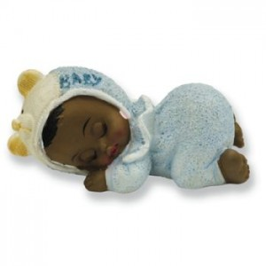 A Porcelain Ethnic Baby Boy Sleeping Baby