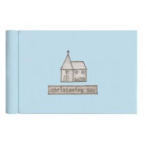 Blue Christening Day Photo Album