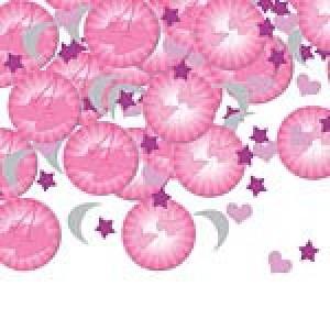 Christening Booties Pink Confett