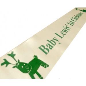 Personalised Satin Christmas Banner