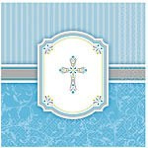 COMMUNION BLESSINGS BLUE NAPKINS