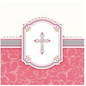 Communion Blessings Pink Napkins