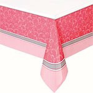 Communion Blessings Pink Plastic Tablecover
