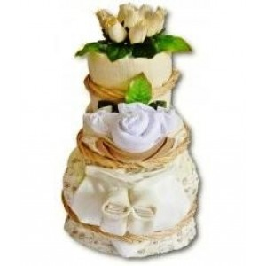 Cream Deluxe Nappy Cake
