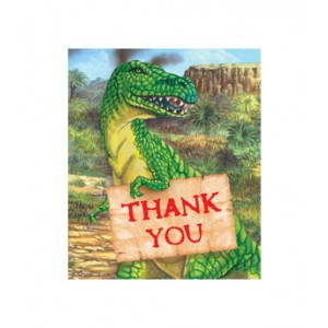 dino thank you cards