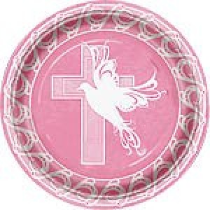 Pink Faithful Dove Plates