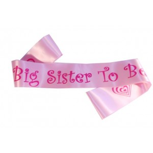 Big Sister To Be Satin Sash
