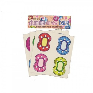 12 Additional Dummy Stickers (large A2 pin the dummy Game)