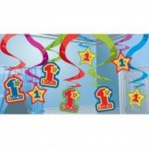 One-derful Boy Hanging Swirl Decorations (15)