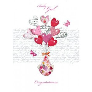 Baby Girl in a Sling GreetingCard