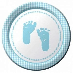 A Baby Boy Plaid Pack of Plates