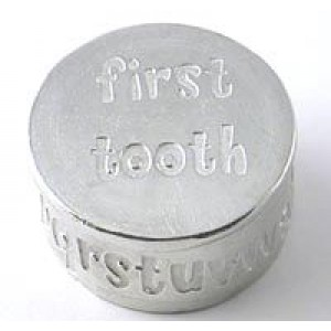 A Pewter First Tooth Keepsake Box