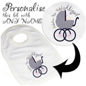 Personalised Girl Bib from Fabulous Range