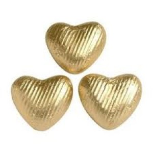 Heart Shaped Chocolate in Gold Foil