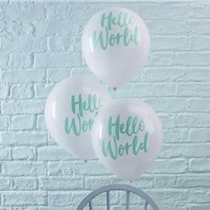 Hello World Latex Balloons x 10