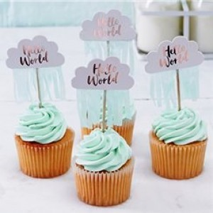 Hello World Cupcake Picks