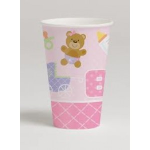 Baby Pink Teddy Bear Cups