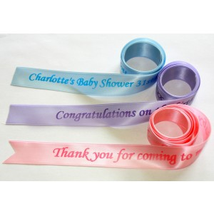 25mm Personalised Satin Ribbon