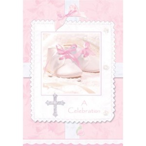 Pack of 8 - Tiny Blessings Pink Invitations