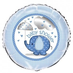 Baby Blue umbrellephants foil balloon