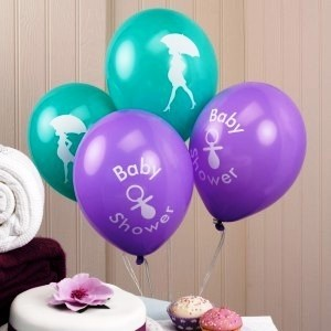 showered with love balloons