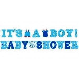 Baby Boy Clothes Line Letter Banner