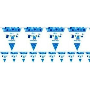 Baby Boy Clothes Line Flag Banner