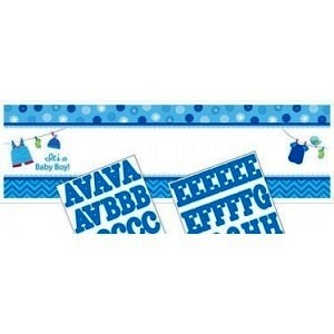 Baby Boy Clothes Line Personalised Giant Banner