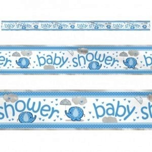 boy umbrellaphants foil banner
