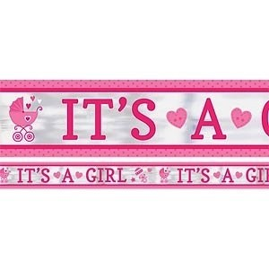 It's a Girl Carriage Banner