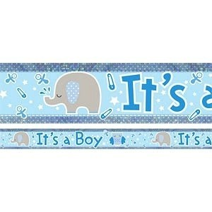 It's a Boy Elephant Banner
