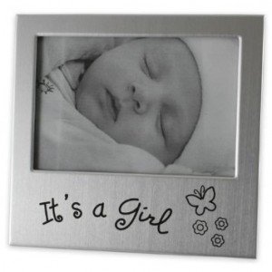 Brushed Silver Girl Photo Frame