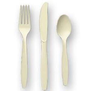 Vanilla Cream Cutlery