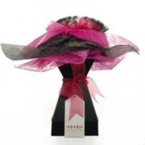 Chocolate Bouquet - Lady In Waiting Fuschia Pink