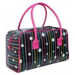Flowers & Stripes Bowling Shaped Bag