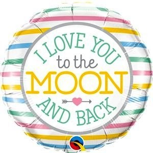 Love You To The Moon Foil Balloon - 18