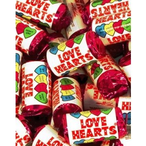 A Mini pack of Love Hearts