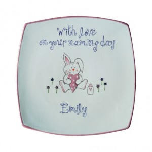 Personalised Rabbit Celebration Plate