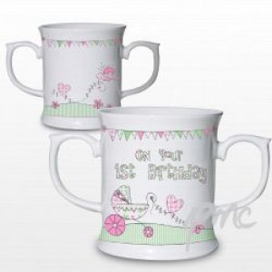 Whimiscal Pram 1st Birthday Loving Mug
