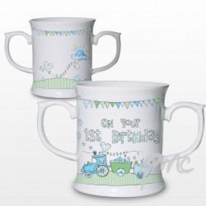 Whimiscal Train 1st Birthday Loving Mug