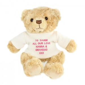 Personalised Bear with Pink Message