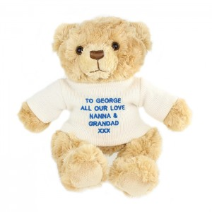 Personalised Bear with Blue Message