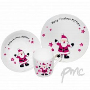 A Spotty Santa Breakfast Set
