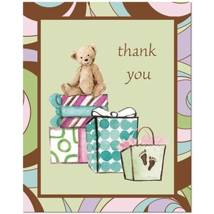 A Pack of 8 Parenthood Thank You Cards
